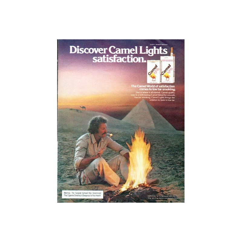 1979 Camel Cigarettes Vintage Ad