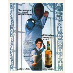 "1979 Catto's Scotch Ad ""sure of myself"""
