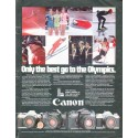 """1979 Canon Camera Ad """"Only the best"""""""