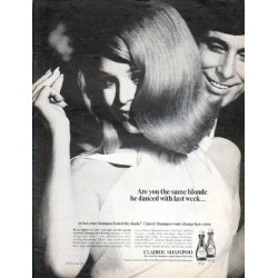 "1966 Clairol Shampoo Ad ""Are you the same blonde"""