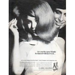 "1966 Clairol Shampoo Ad ""Are you the same blonde"""