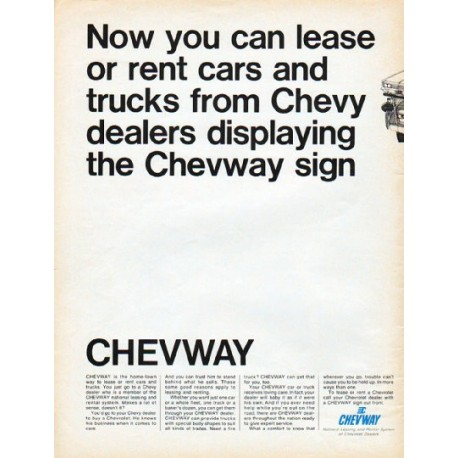 "1966 Chevway Ad ""Now you can lease"""