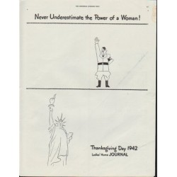 "1942 Ladies' Home Journal Ad ""Never Underestimate the Power of a Woman!"""