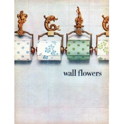 "1966 Lady Scott Tissue Ad ""wall flowers"""
