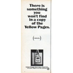 "1966 Yellow Pages Ad ""something you won't find"""