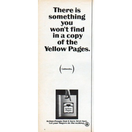 """1966 Yellow Pages Ad """"something you won't find"""""""