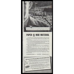 "1942 Hammermill Bond Ad ""Paper is War Material"""