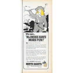 "1966 North Dakota Tourism Ad ""Blondes Have More Fun"""