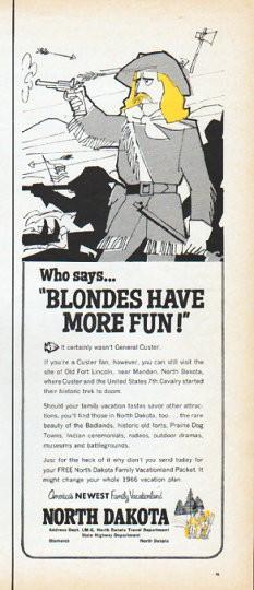1966 North Dakota Tourism Ad