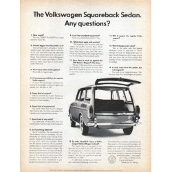 "1966 Volkswagen Ad ""Squareback Sedan"" ... (model year 1966)"