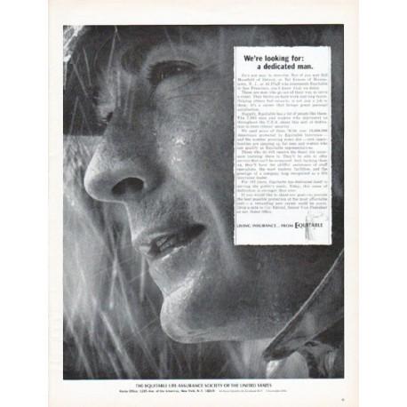 "1966 Equitable Life Assurance Society Ad ""a dedicated man"""