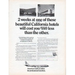 "1966 American Airlines Ad ""2 weeks"""