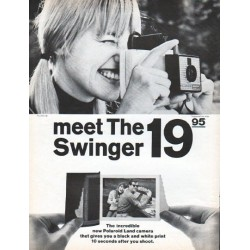 "1966 Polaroid Ad ""meet The Swinger"""