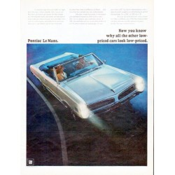 "1966 Pontiac Le Mans Ad ""Now you know"" ... model year 1966"
