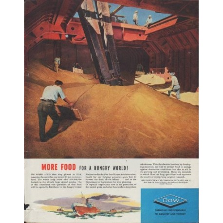 "1942 DOW Ad ""More Food for a Hungry World!"""