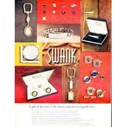"1966 Swank Jewelry Ad ""finest expression of good taste"""