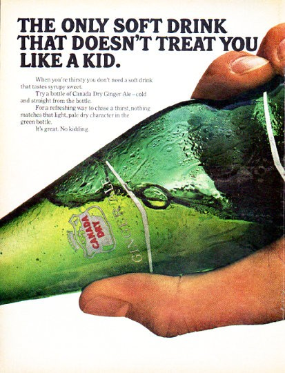 1966 Canada Dry Vintage Ad