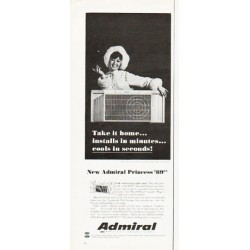 "1966 Admiral Air Conditioner Ad ""Take it home"""