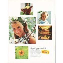 "1966 Kodak Ad ""Beauty comes out best"""