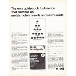 "1966 Mobil Travel Guide Ad ""The only guidebook"""