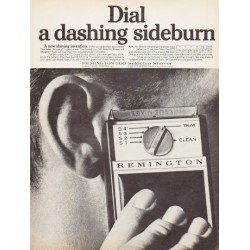 "1966 Remington Shaver Ad ""a dashing sideburn"""