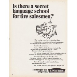 "1966 B.F. Goodrich Ad ""secret language school"""