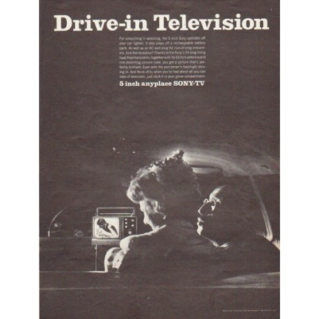 "1966 Sony Television Ad ""Drive-in Television"""