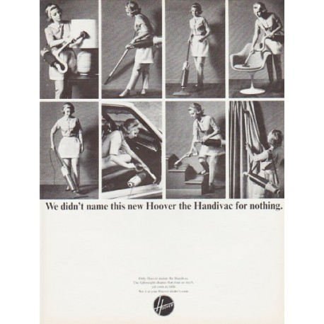 "1966 Hoover Ad ""the Handivac"""