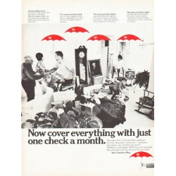 "1966 Travelers Insurance Ad ""cover everything"""