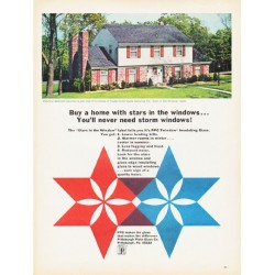 "1966 Pittsburgh Plate Glass Ad ""Buy a home with stars"""