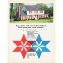"""1966 Pittsburgh Plate Glass Ad """"Buy a home with stars"""""""