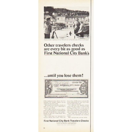 "1966 First National City Bank Ad ""Other travelers"""