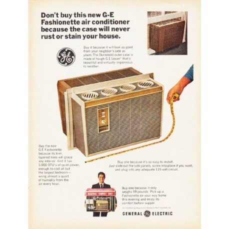 "1966 General Electric Air Conditioner Ad ""G-E Fashionette"""
