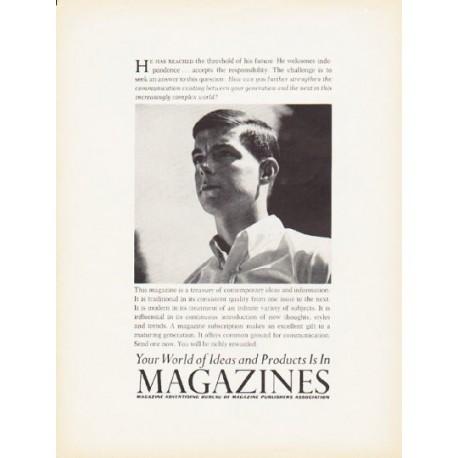 "1966 Magazine Advertising Bureau Ad ""Your World of Ideas"""