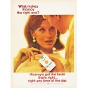 "1966 Viceroy Cigarettes Ad ""the right one"""