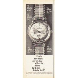 "1966 Helbros Watch Ad ""how did you ever get along"""