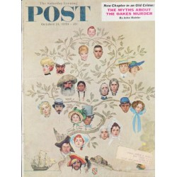 "1959 Saturday Evening Post Cover Page ""Family Tree"" ... October 24, 1959"