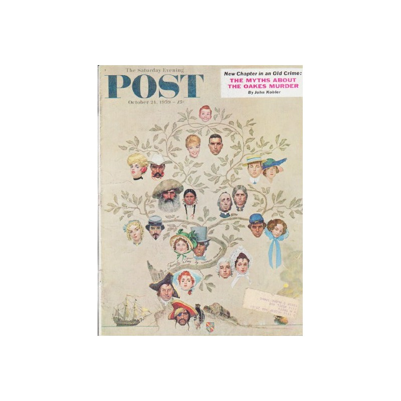 1959 Saturday Evening Post Vintage Cover Page Quot Family Tree