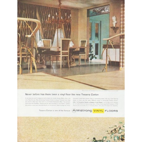 "1959 Armstrong Floors Ad ""Never before"""