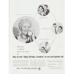 "1959 Bell Telephone System Ad ""Happy Birthday, Grandma"""