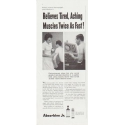 "1959 Absorbine Jr. Ad ""Twice As Fast"""