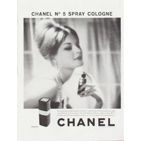 "1959 Chanel Perfume Ad ""Chanel No. 5 Spray Cologne"""