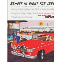 "1960 Dodge Trucks Ad ""Newest in sight"" ... (model year 1960)"