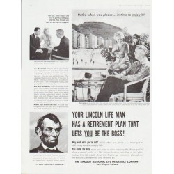 "1959 Lincoln National Life Insurance Ad ""Your Lincoln Life Man"""