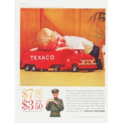 "1959 Texaco Ad ""Buddy-L toy Texaco Tank Truck"""