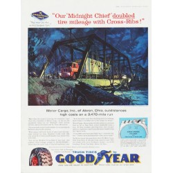 "1959 Goodyear Tires Ad ""Midnight Chief"""