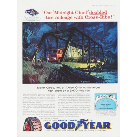 """1959 Goodyear Tires Ad """"Midnight Chief"""""""