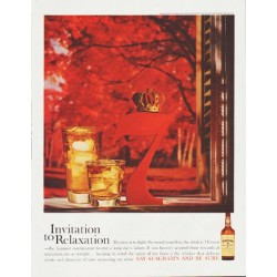 "1959 Seagram's Whiskey Ad ""Invitation to Relaxation"""