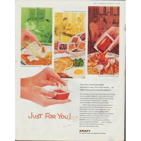 "1961 Kraft Ad ""Just For You!"""
