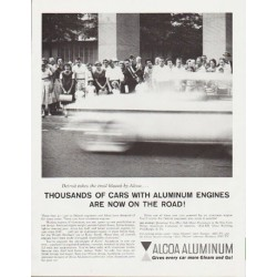 "1959 Alcoa Aluminum Ad ""Thousands of cars"""